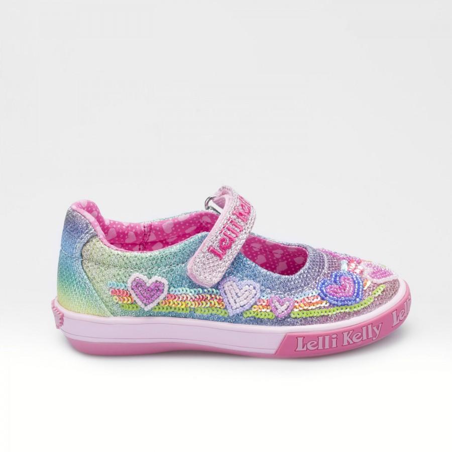 Rainbow Hearts Dolly